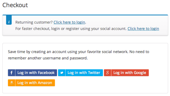 WooCommerce Social Login Checkout Page